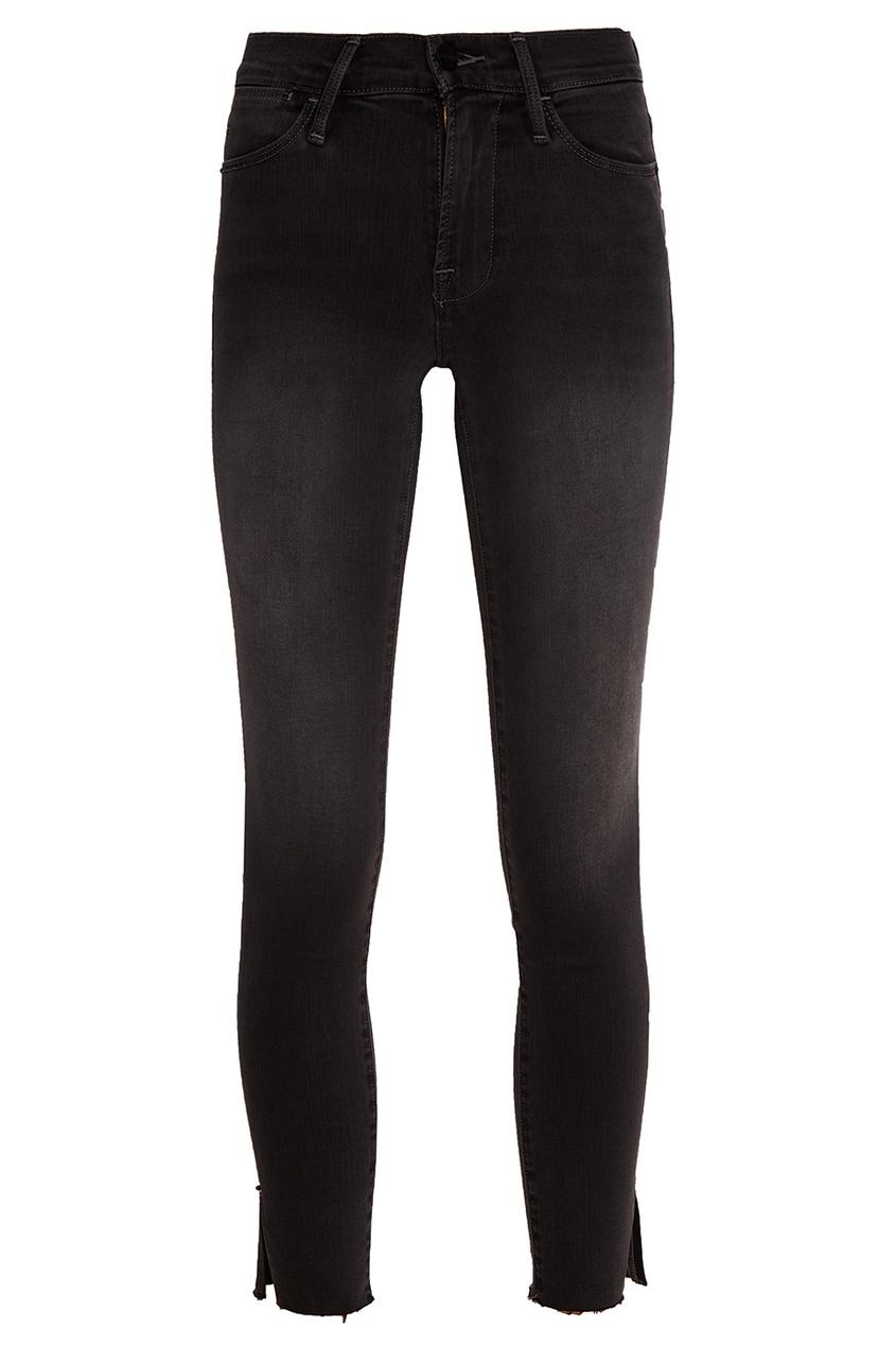 Серые потертые джинсы