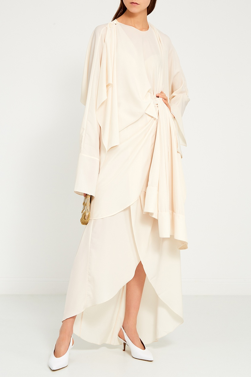 A.W.A.K.E. Асимметричное платье с жакетом vionnet асимметричное платье свободного кроя