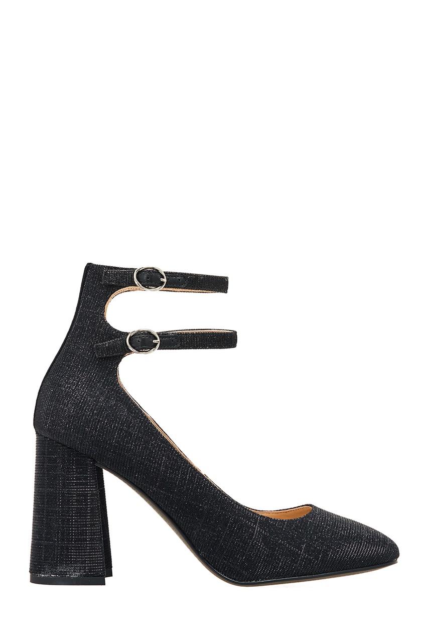 Черные туфли с люрексом