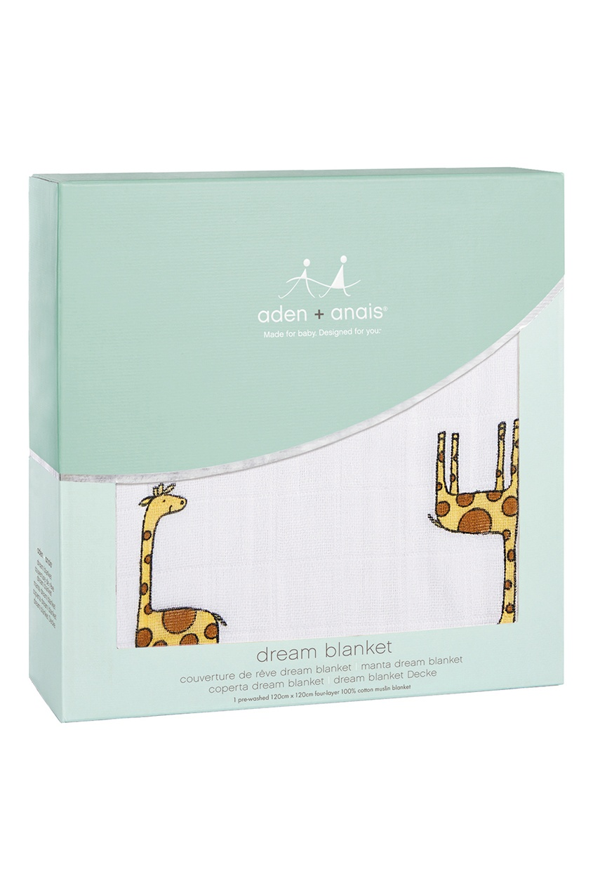 ADEN+ANAIS Детское одеяло с принтом с жирафами mind ulness утренние страницы лимон скругленные углы