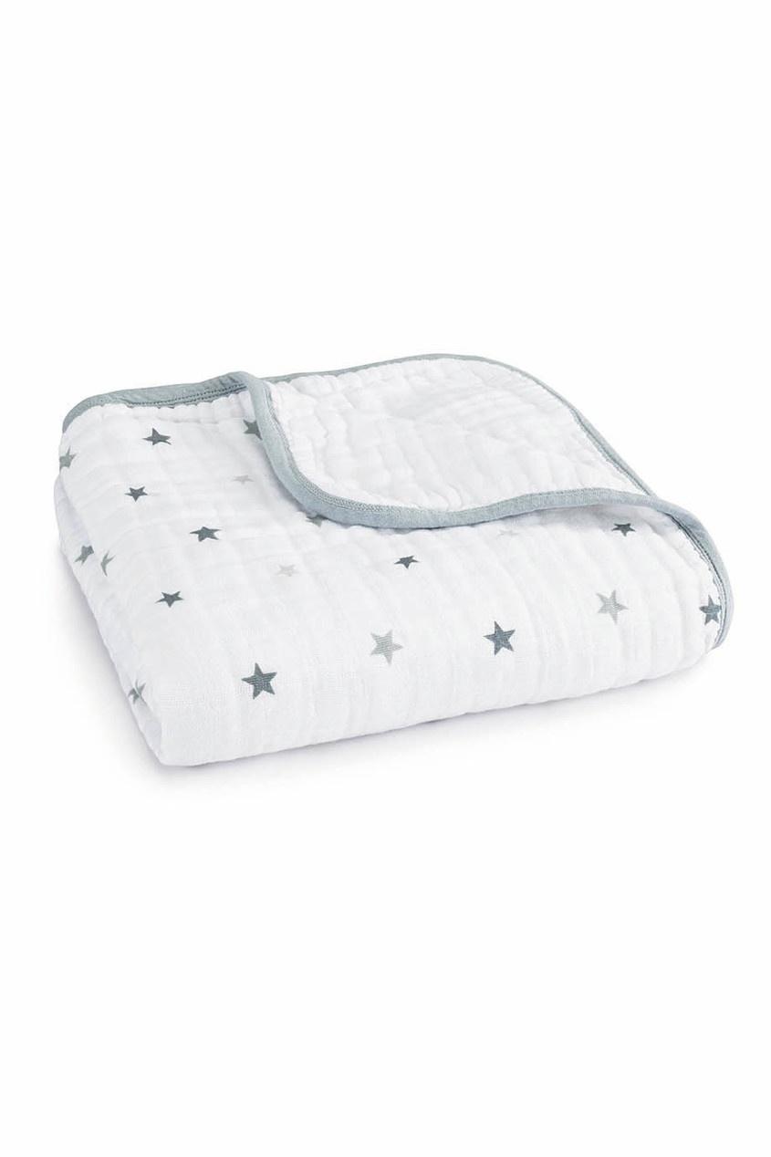 Хлопковое одеяло с контрастной отделкой ADEN+ANAIS
