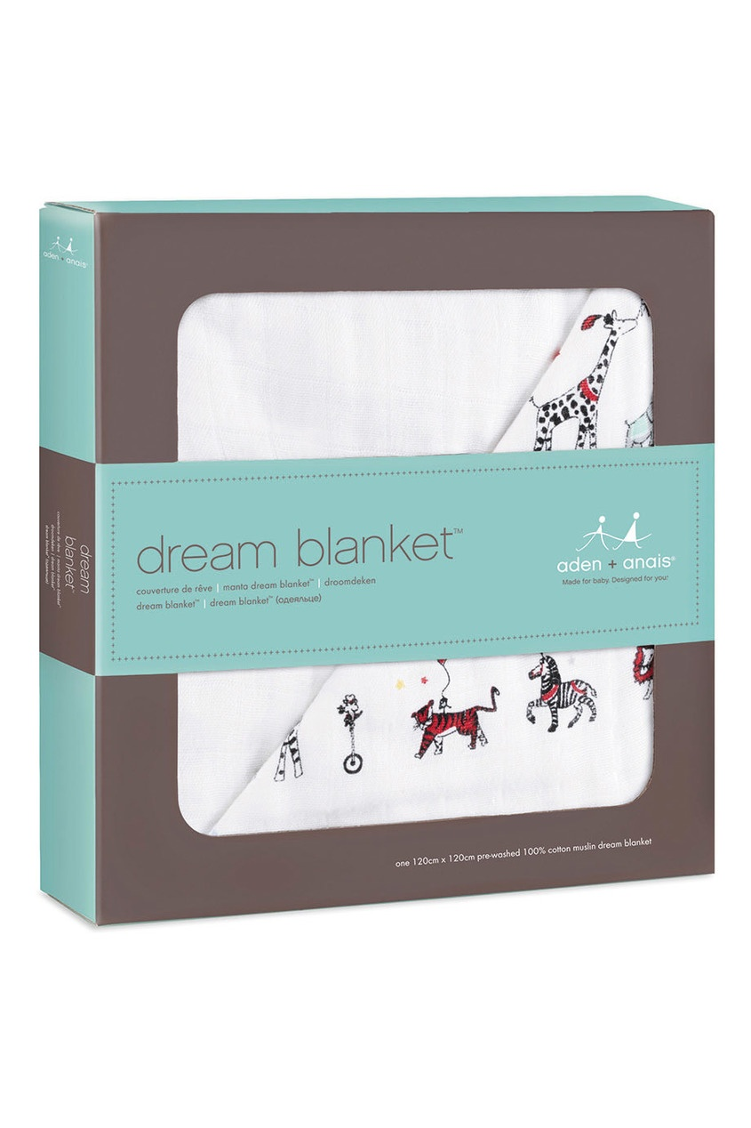 Хлопковое одеяло с ярким принтом