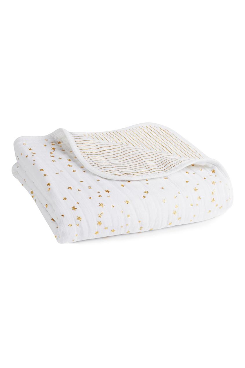 Хлопковое одеяло с блестящим принтом