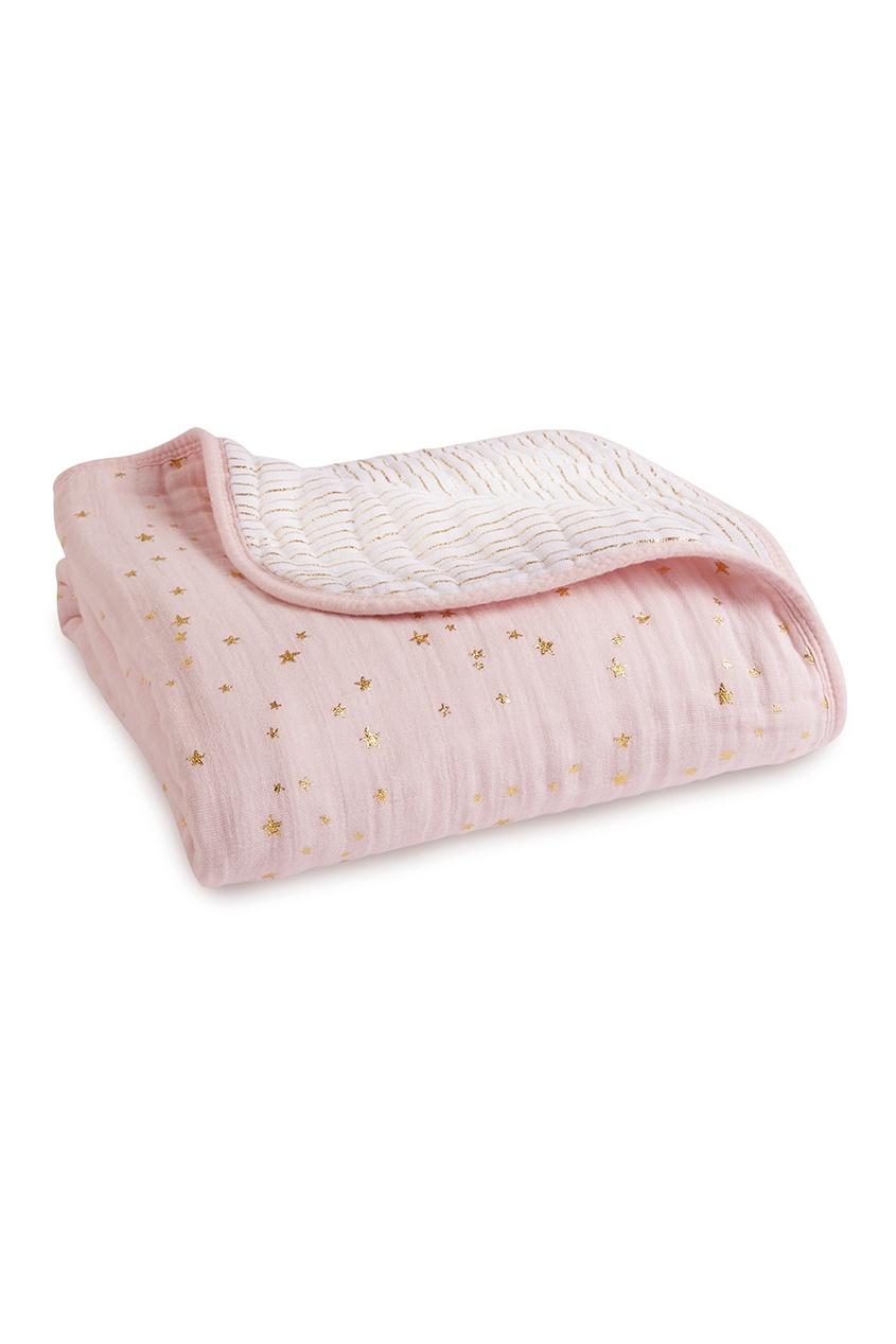 Двустороннее одеяло с блестящим принтом