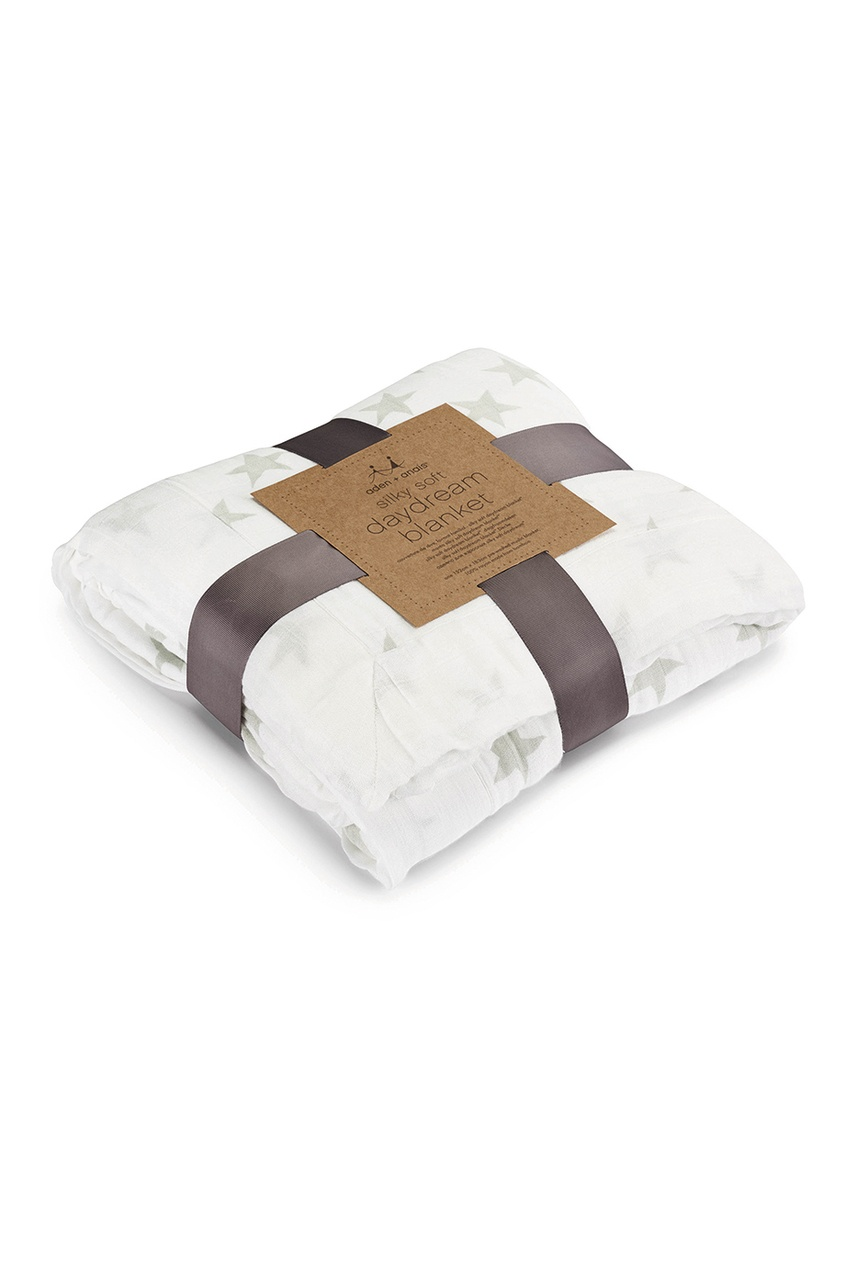 Белое одеяло со звездами