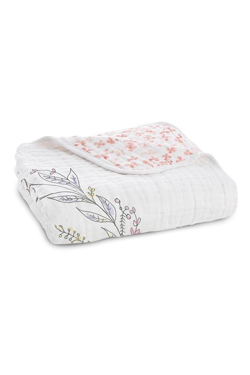 Двустороннее одеяло из белого хлопка