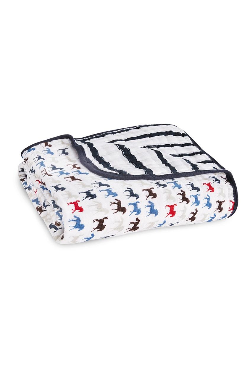 Детское одеяло с контрастным принтом
