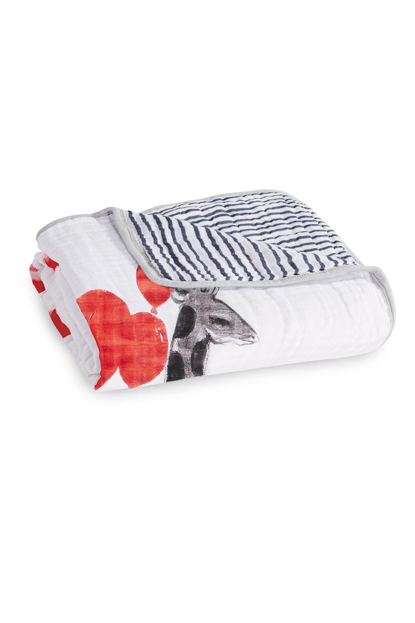 Двустороннее хлопковое одеяло с принтом