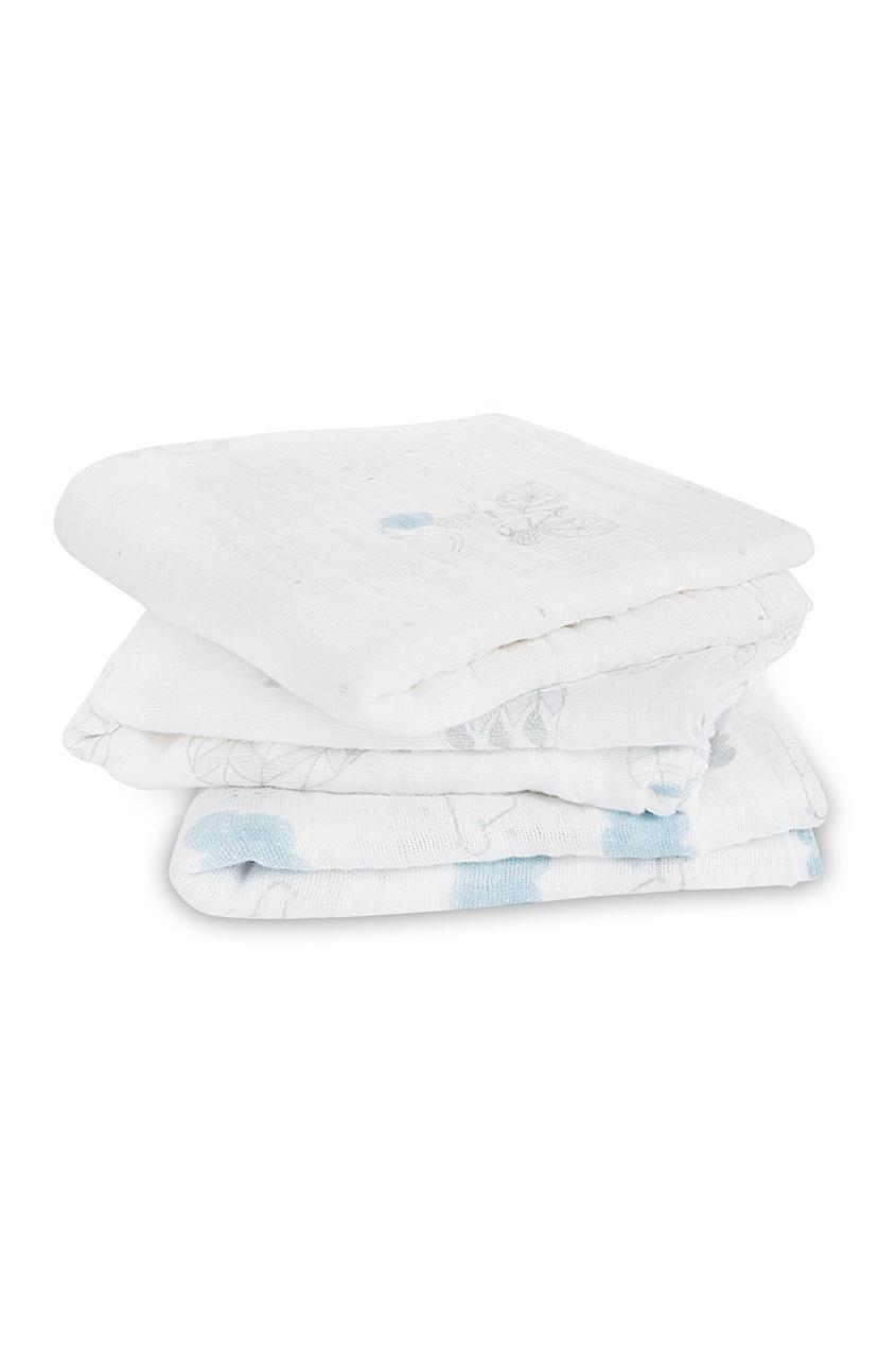 ADEN+ANAIS Пеленки с серо-голубым принтом anais apparel connie