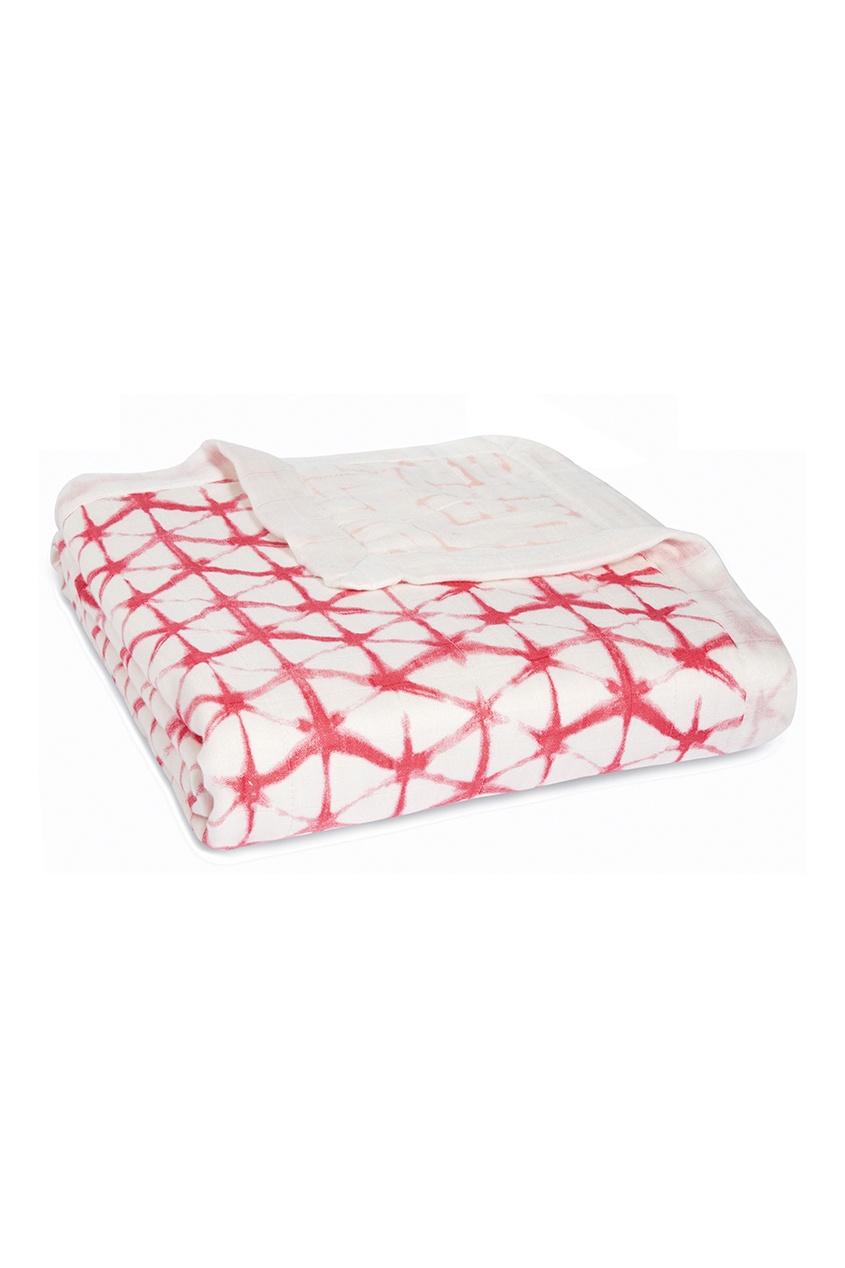 Одеяло с красным графичным принтом