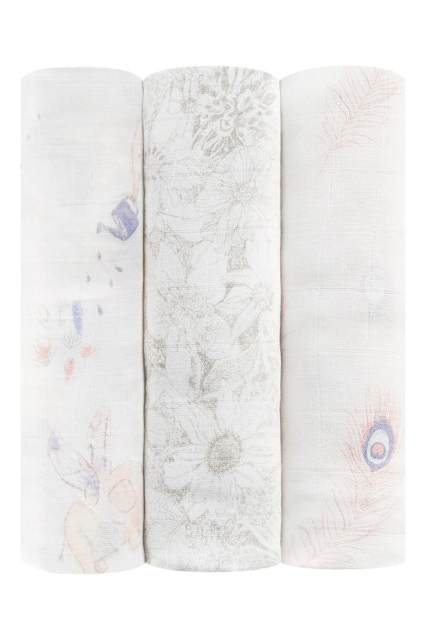 Набор бамбуковых пеленок с графичным принтом