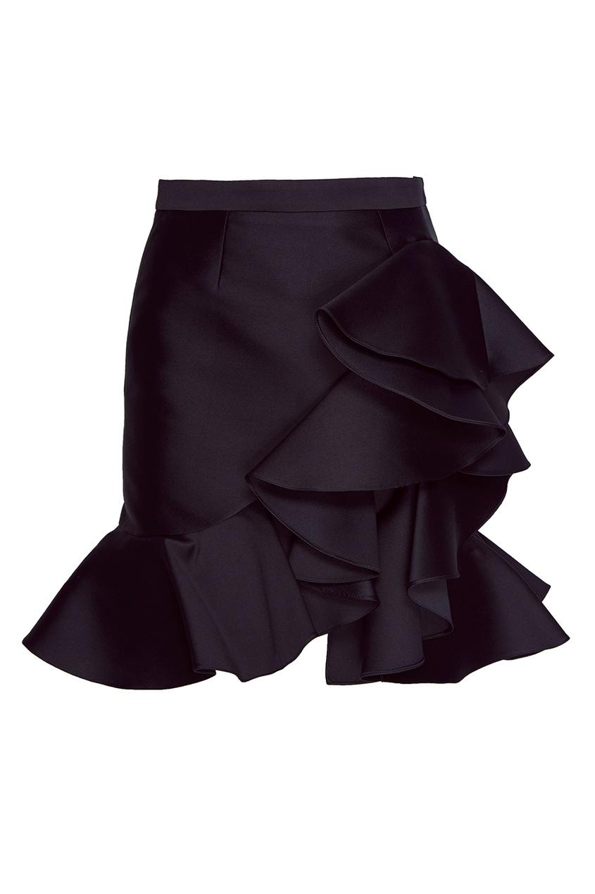 Stella McCartney Юбка-мини с воланами stella mccartney юбка мини с воланами