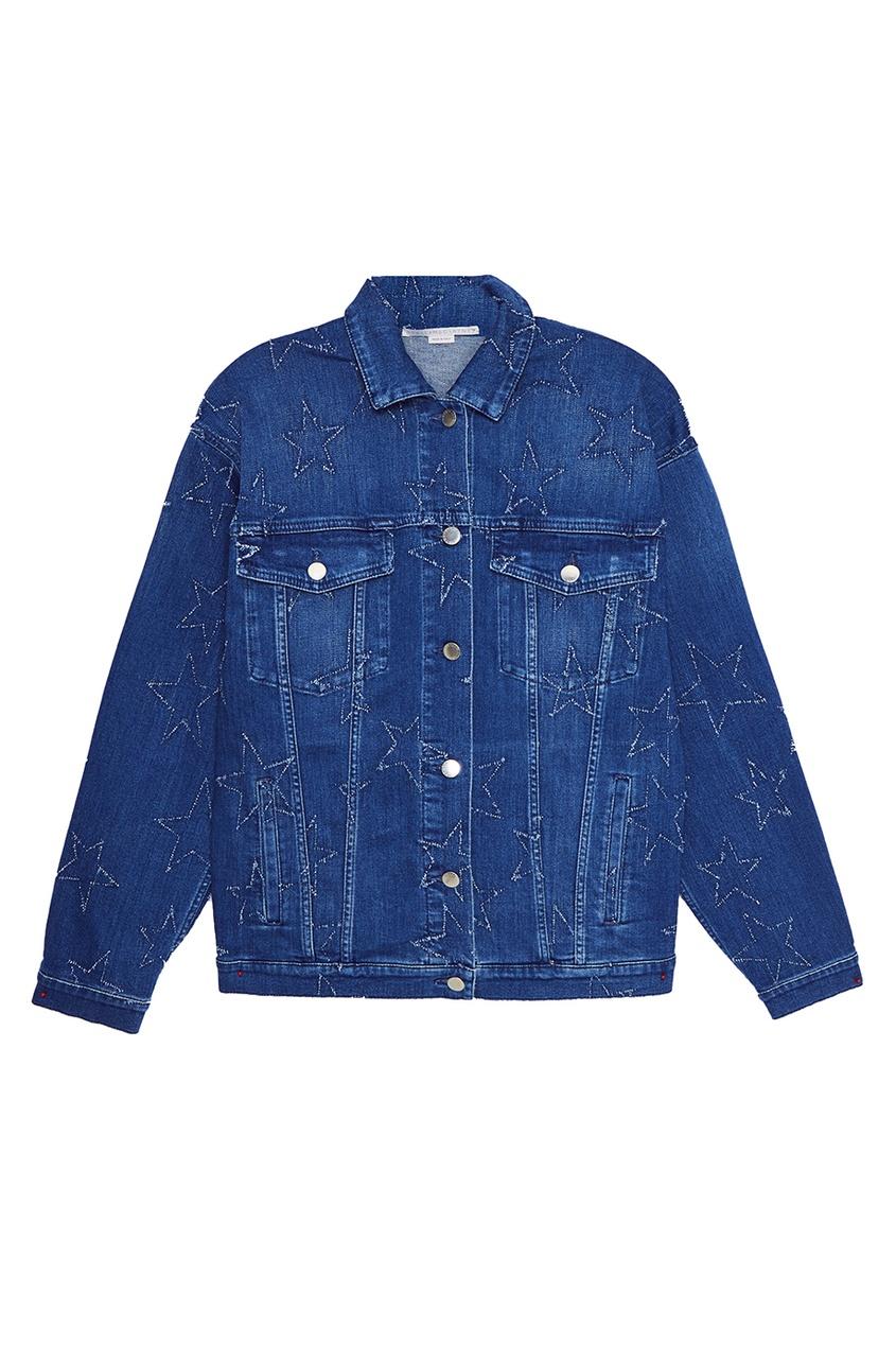 Stella McCartney Джинсовая куртка со звездами stella mccartney жакет