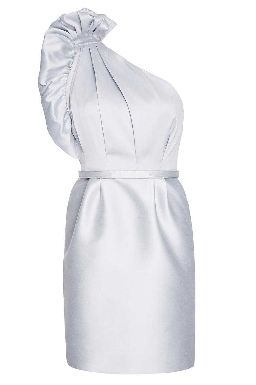 Stella McCartney Серое асимметричное платье из хлопка stella mccartney белое асимметричное платье из хлопка