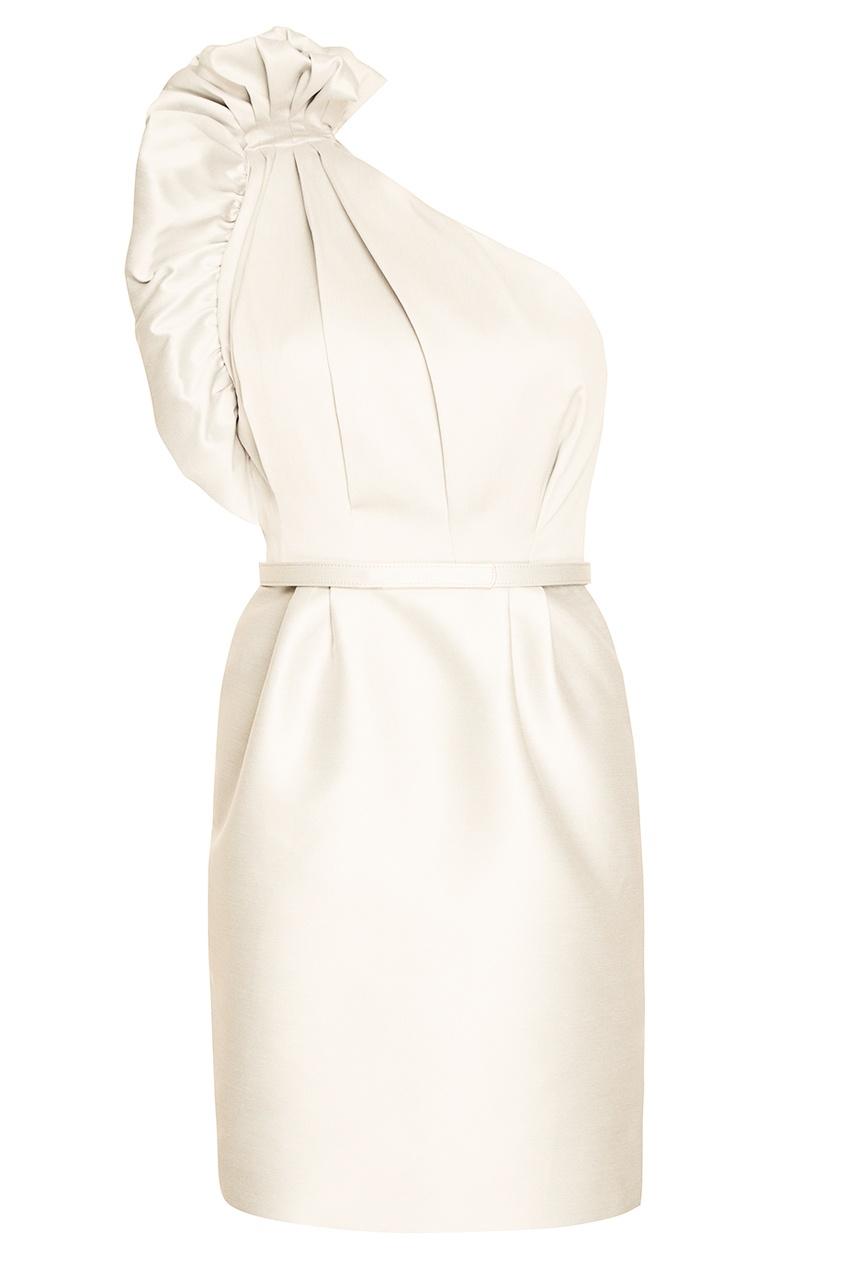 Stella McCartney Белое асимметричное платье из хлопка stella mccartney красное платье с асимметричным подолом