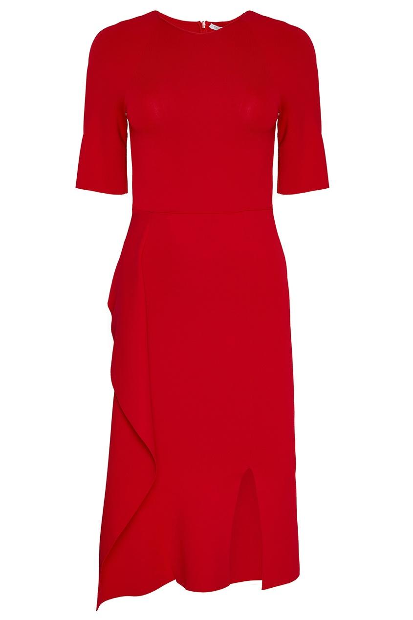 Stella McCartney Красное платье с асимметричным подолом stella mccartney джемпер с асимметричным низом