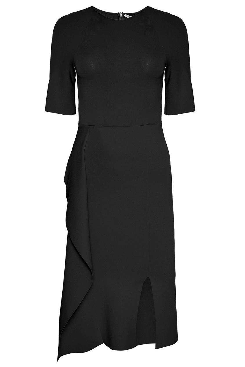 Stella McCartney Черное платье с асимметричным подолом stella mccartney красное платье с асимметричным подолом
