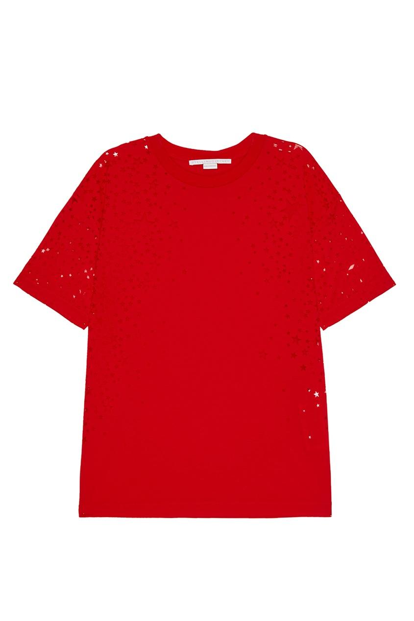 Stella McCartney Красная футболка со звездами