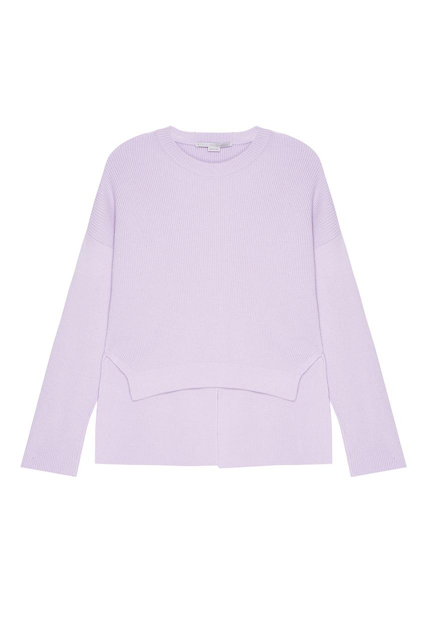 Фиолетовый джемпер из шерсти