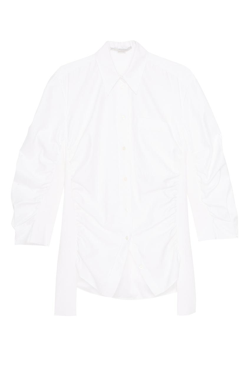 Stella McCartney Хлопковая блузка с драпировками stella mccartney серая хлопковая водолазка