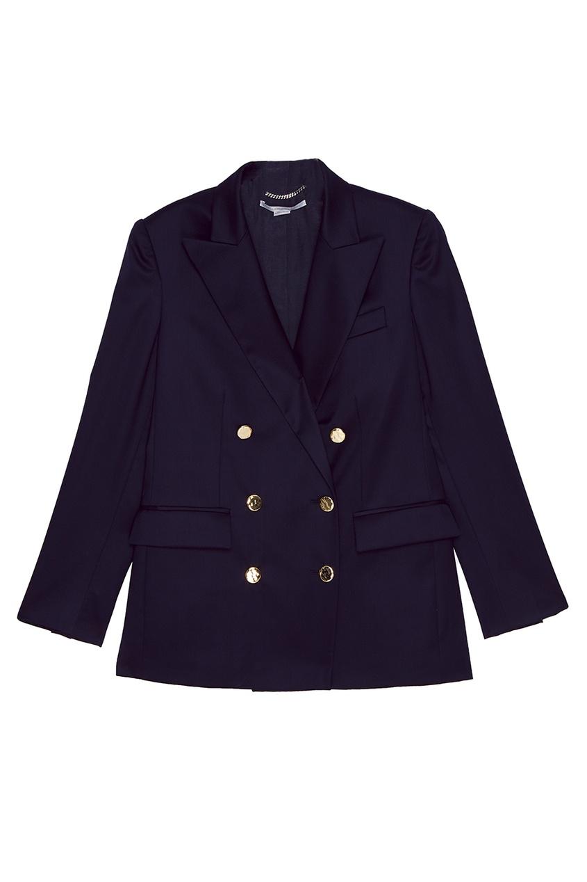 Stella McCartney Синий шерстяной жакет stella mccartney шерстяной свитер