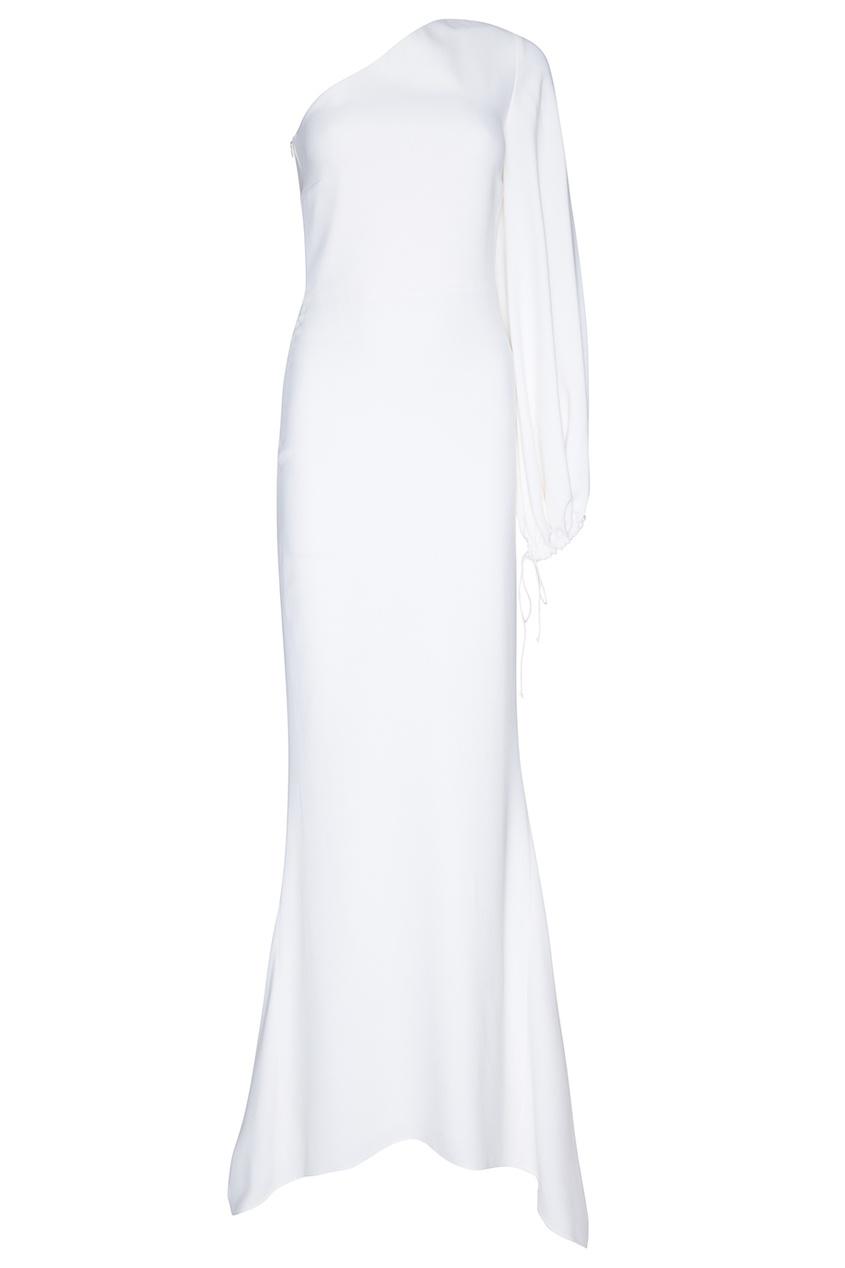 Длинное платье на одно плечо фото