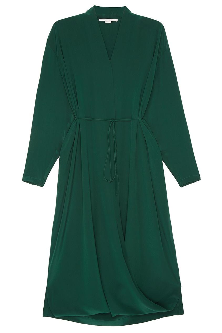 Stella McCartney Шелковое платье с запахом недорогое платье запахом для полных