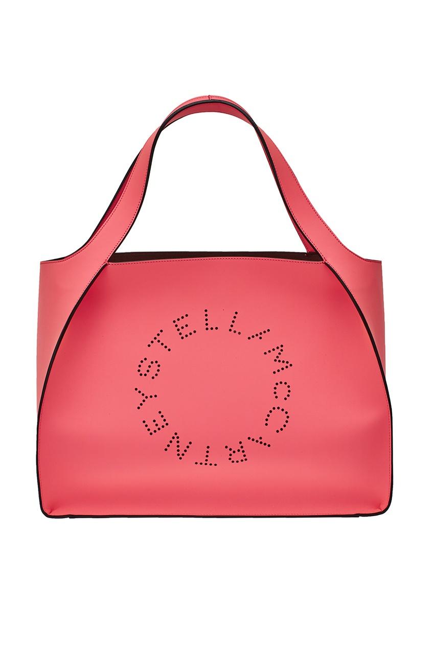 Розовая сумка-тоут Stella Logo