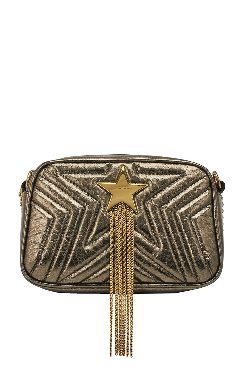 Stella McCartney Золотистая сумка Stella Star Mini