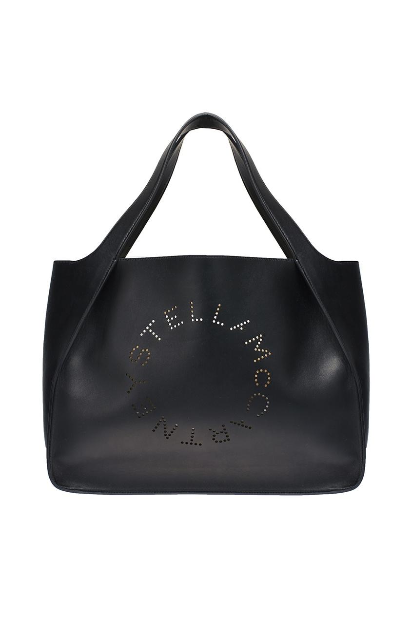 Черная сумка-тоут Stella Logo