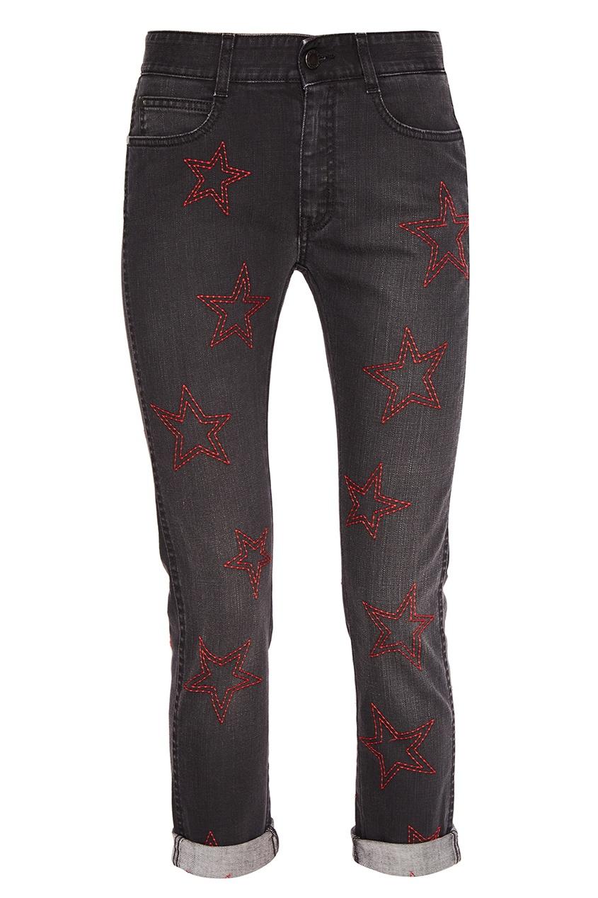 Stella McCartney Серые джинсы со звездами stella mccartney белая футболка со звездами