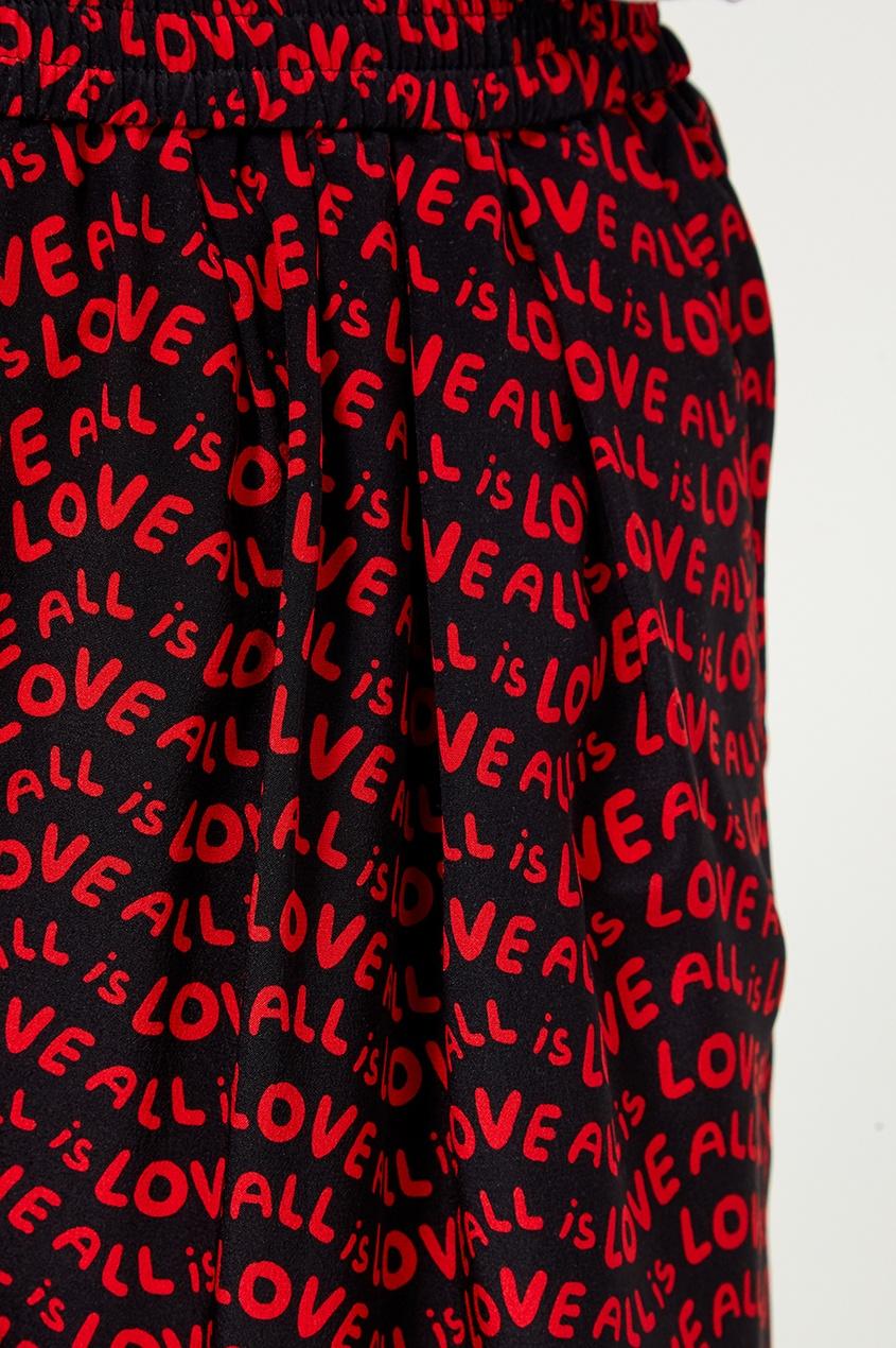Шелковые брюки с принтом