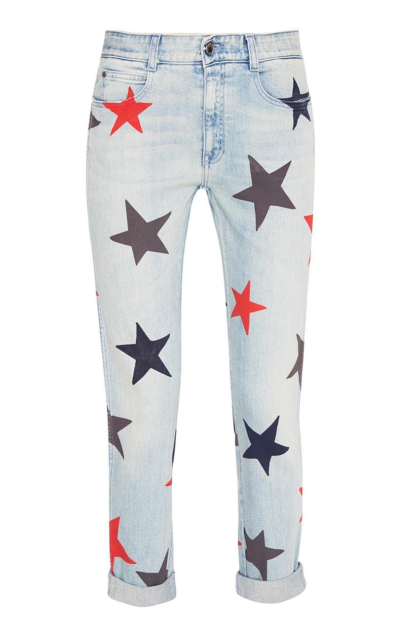 Stella McCartney Голубые джинсы со звездами stella mccartney белая футболка со звездами
