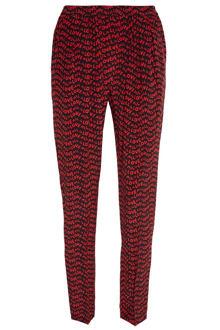 Stella McCartney Шелковые брюки с принтом stella mccartney жакет
