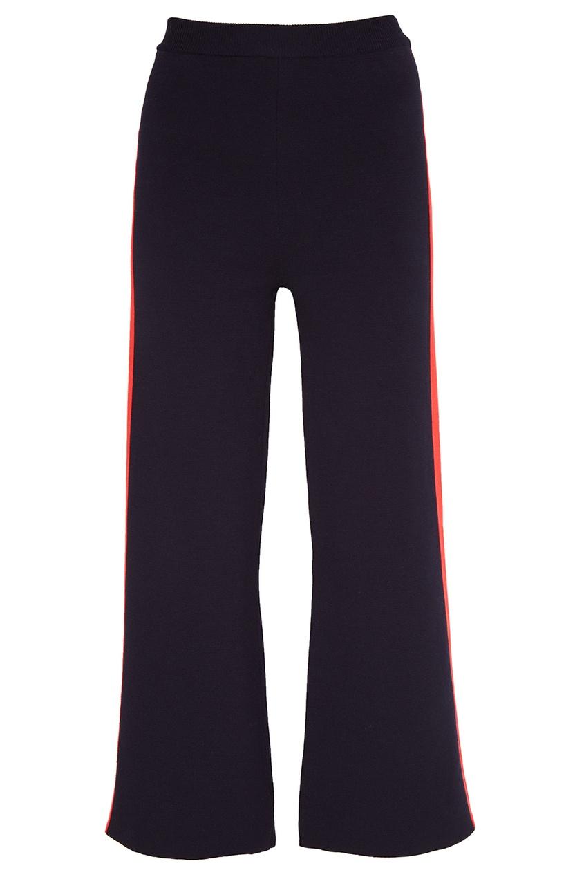 Stella McCartney Хлопковые брюки с лампасами stella mccartney джемпер с контрастным узором