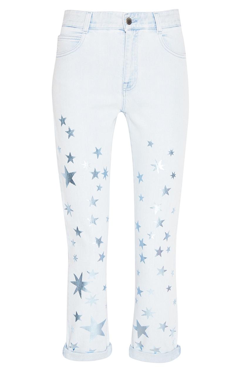 Stella McCartney Голубые джинсы со звездами джинсы детские crockid джинсы для девочки синие со звездами