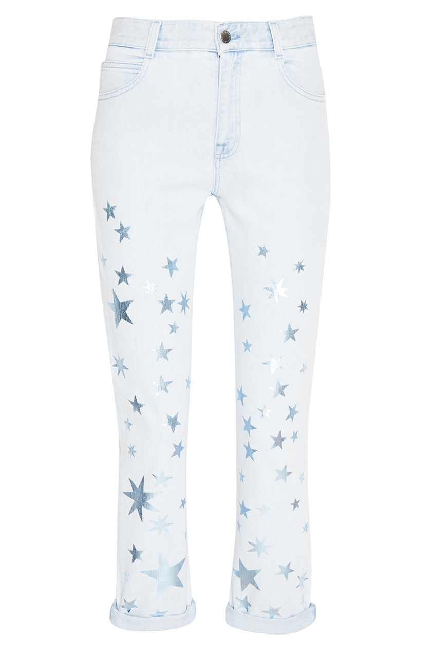 Stella McCartney Голубые джинсы со звездами stella mccartney жакет
