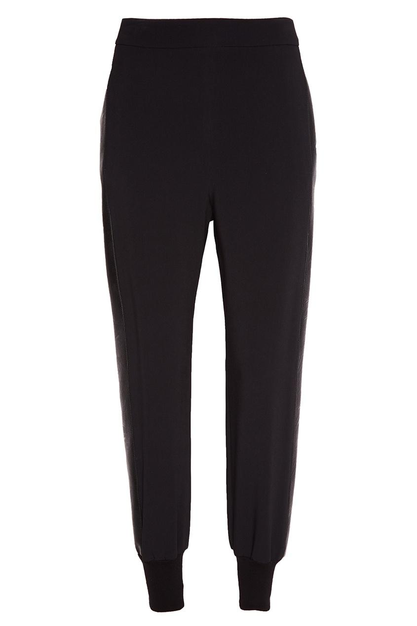 Черные драпированные брюки