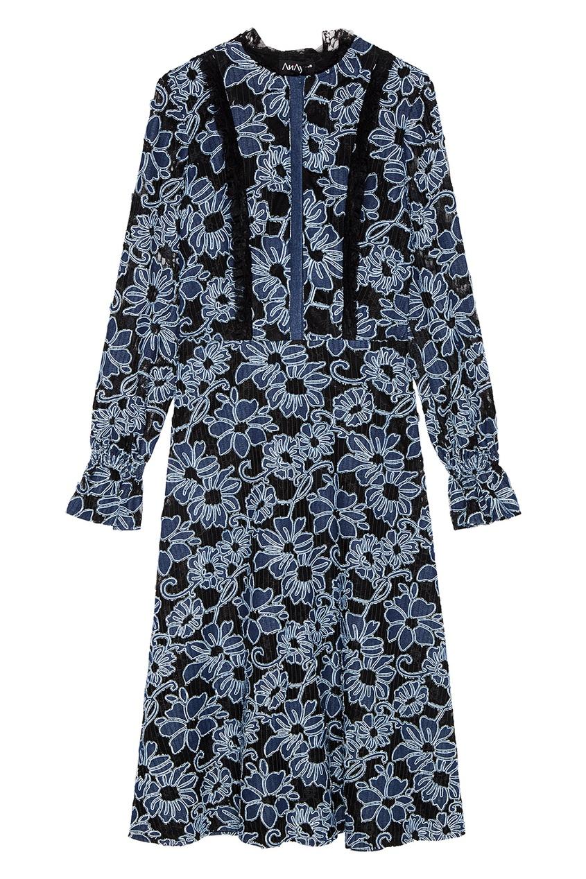 Кружевное платье с цветами