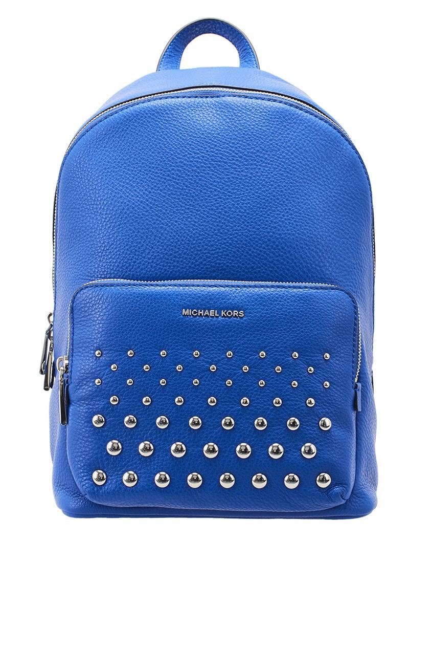 Michael Michael Kors Синий кожаный рюкзак рюкзак michael michael kors michael michael kors mi048bwaecc9