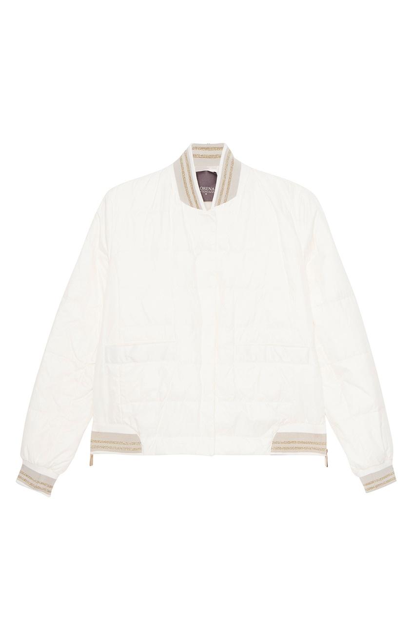 Lorena Antoniazzi Белая стеганая куртка