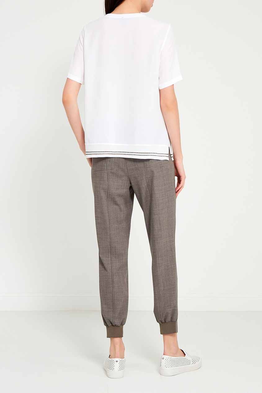 Lorena Antoniazzi Белая футболка с шелком