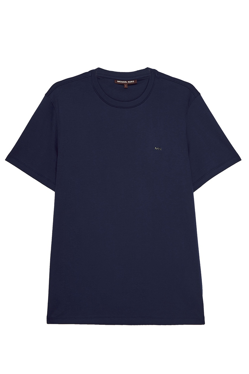 Michael Kors Collection Синяя футболка из хлопка michael kors collection кашемировый джемпер