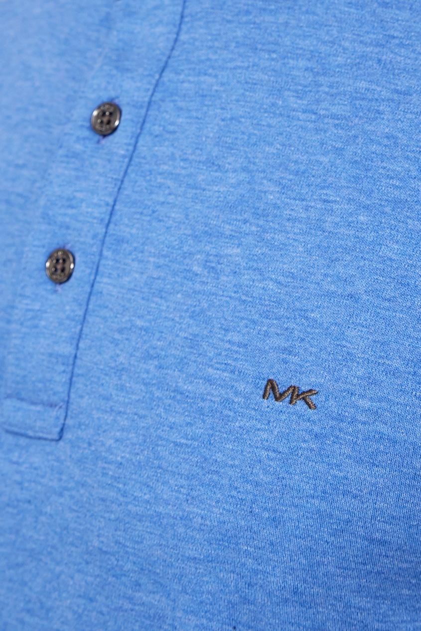 Michael Kors Collection Голубая меланжевая футболка-поло michael kors collection сандалии byrne