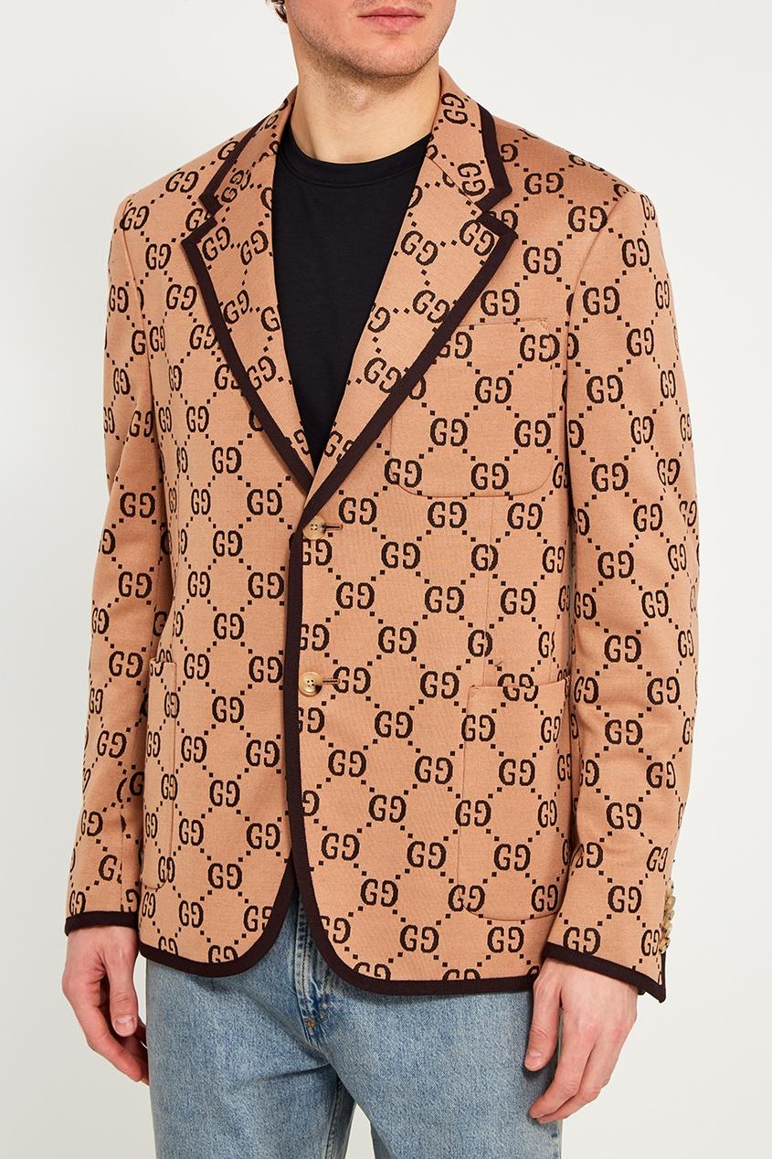 Gucci Пиджак из шерсти и хлопка