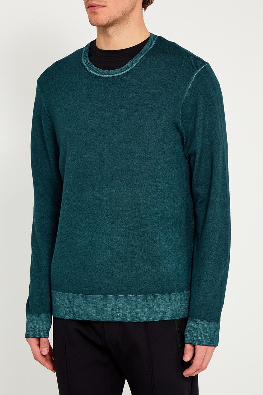 Michael Kors Collection Зеленый джемпер из шерсти michael kors collection кашемировый джемпер
