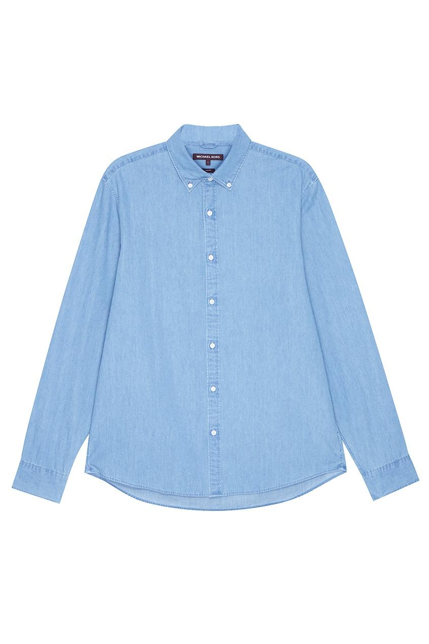 Michael Kors Collection Голубая рубашка из денима ami рубашка из денима