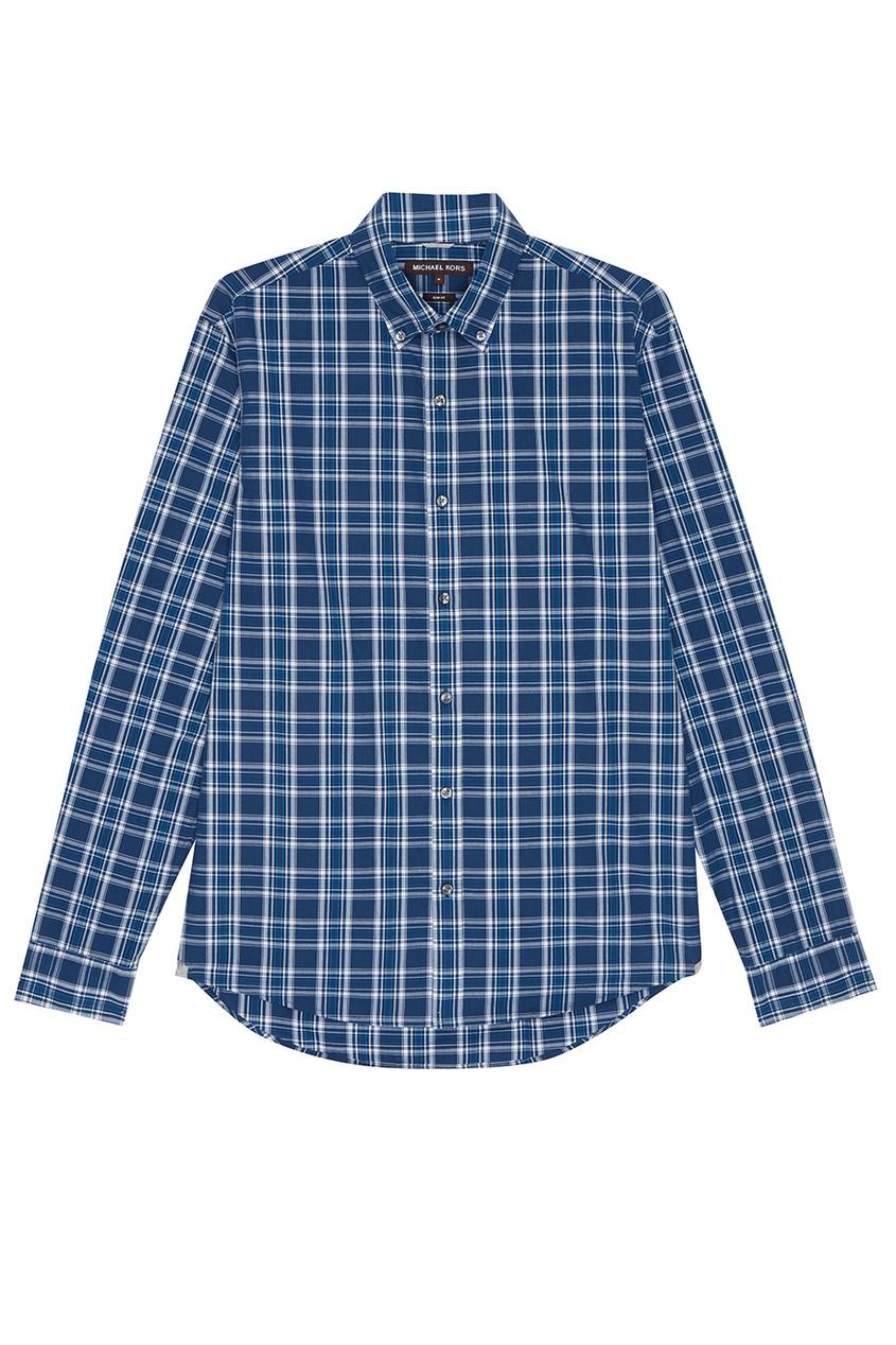 Michael Kors Collection Синяя рубашка в клетку рубашка в клетку insight liberty pit blue
