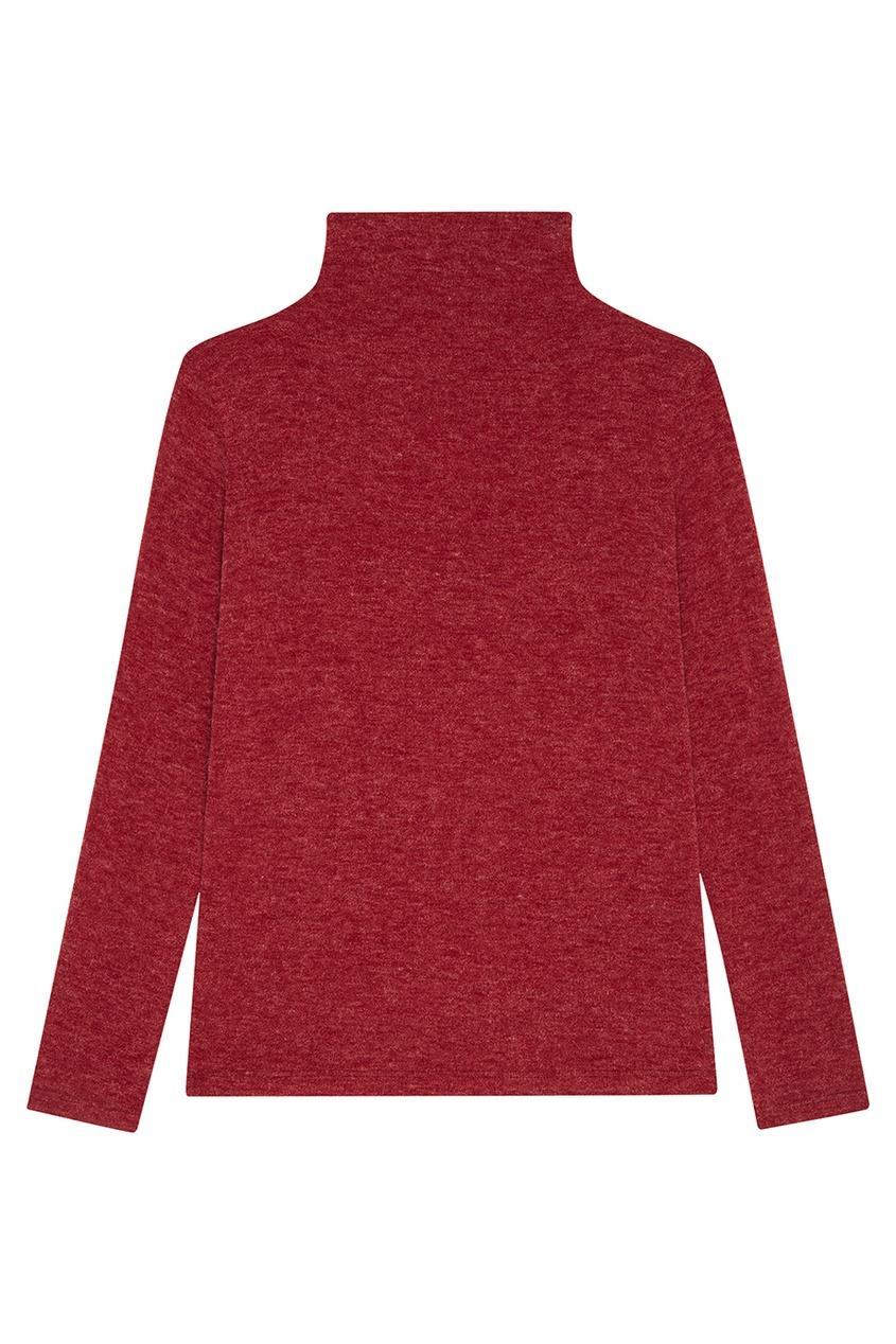 Бордовый свитер из шерстяного микса