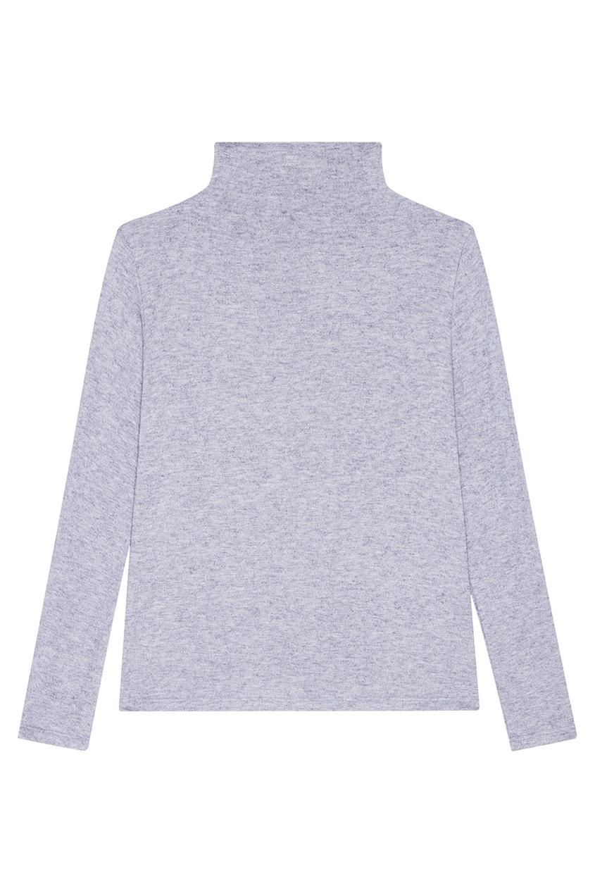 Голубой свитер из шерстяного микса